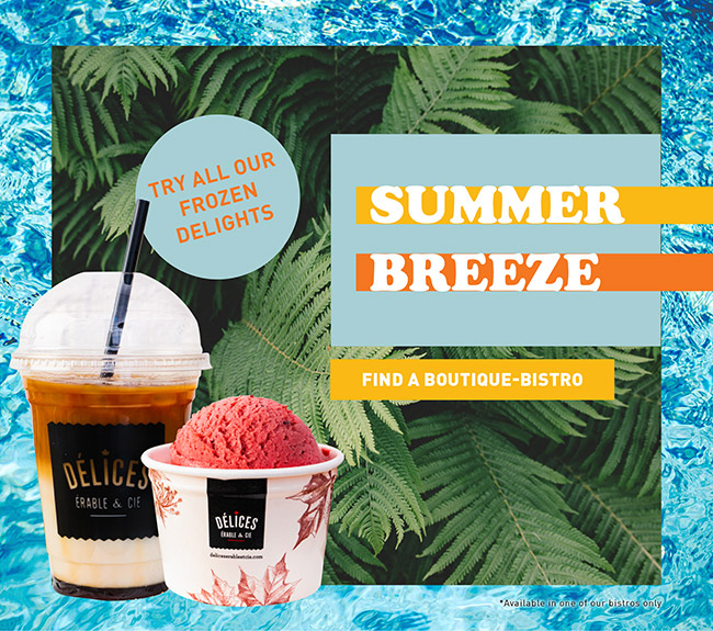 Try all our frozen delights - Summer breeze